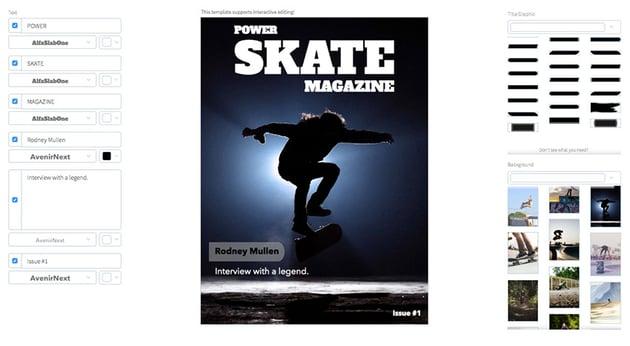 Skateboarding Magazine Cover