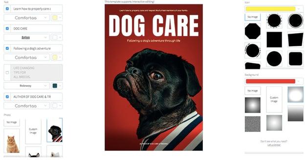 Dog Care Training Book Cover Creator