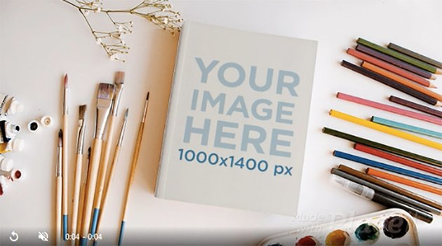 Book on a Creative Painter Desk in Stop Motion