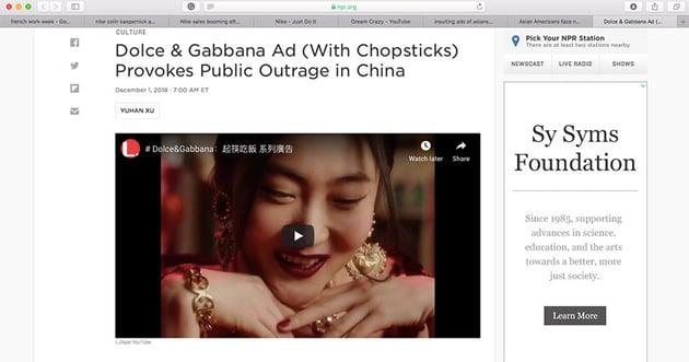 Dolce  Gabbana Ad
