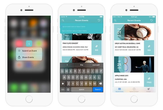 Events iPhone App Template
