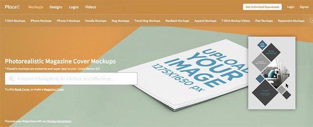 Placeits Magazine Mockup