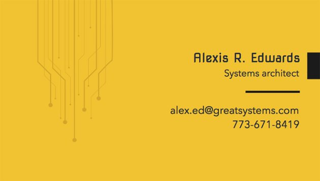 Business Card Maker for Systems Architect
