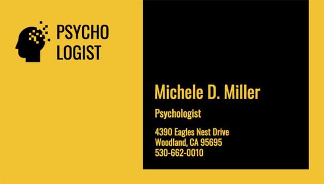 Clinical Psychologist Business Card Maker