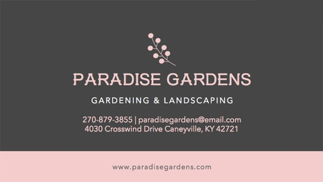 Gardening and Landscaping Business Card Template