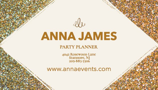 Party Planner Business Card Maker
