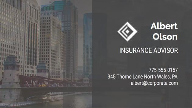 Business Card Maker for Insurance Advisors