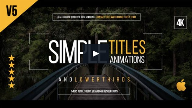 Gold Simple Titles for Final Cut Pro X