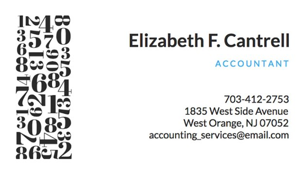 Accountant Business Card Maker