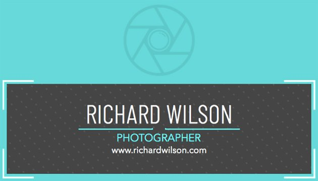 Business Card Template for Photography Studio