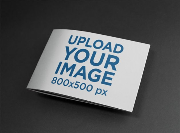Closed Booklet on a Black Surface Mockup