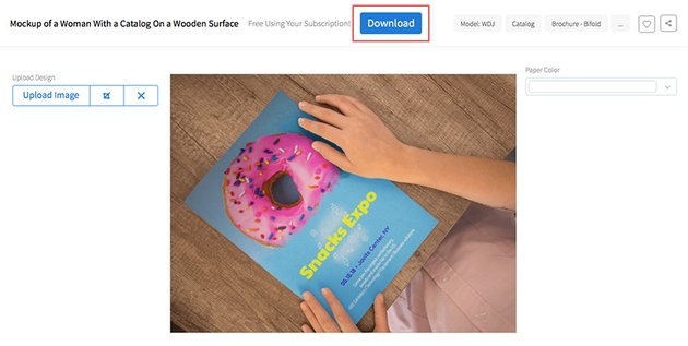 Download Your Completed Mockup