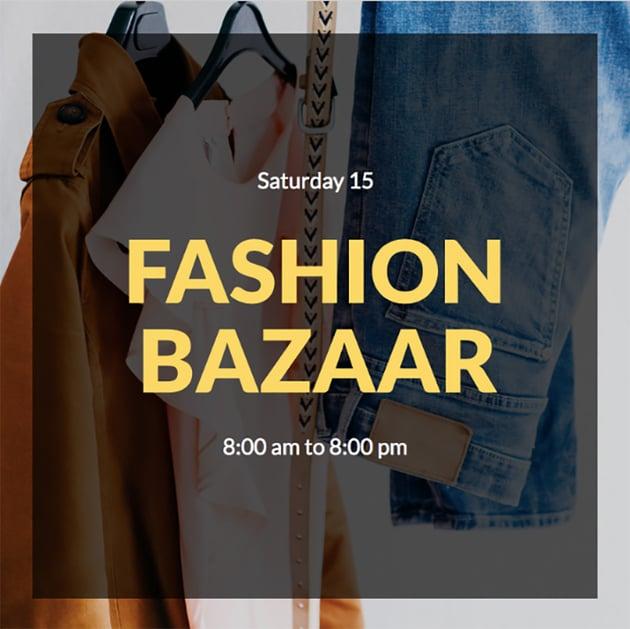 Fashion Bazaar Instagram Post Creator