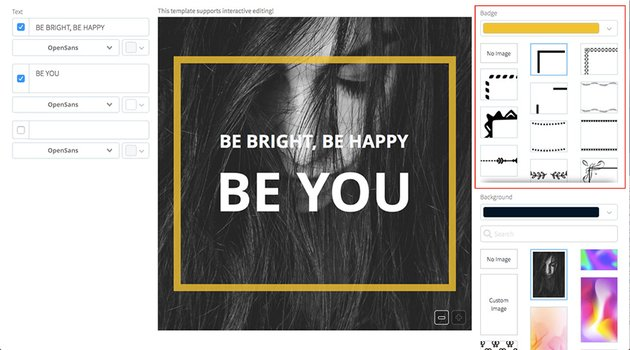 Customise your blank instagram post template as much or as little as you like