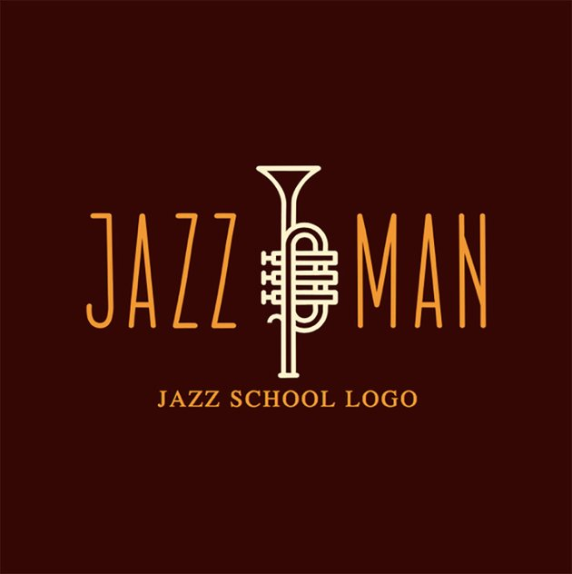 Online Logo Maker for Music School with Jazz Icons