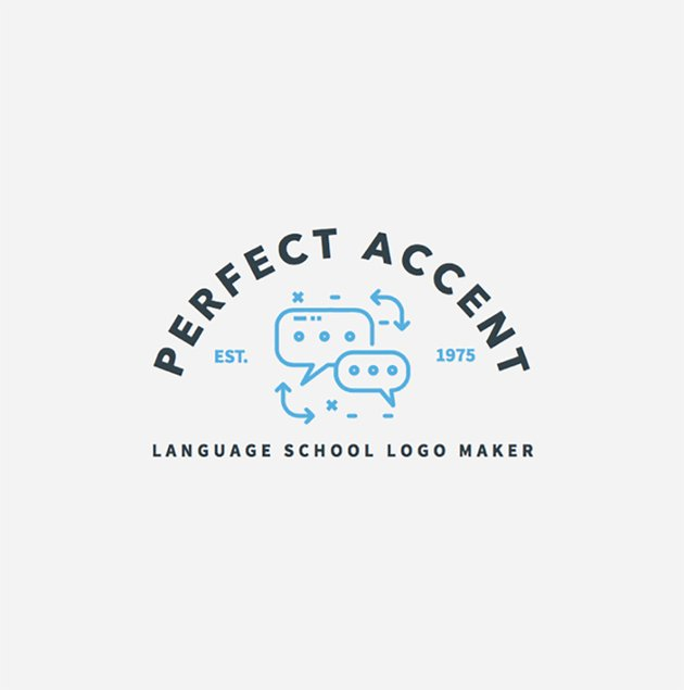 Simple Logo Maker for Language Schools