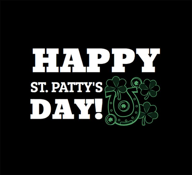 Cheerful St Patricks Day Tee Design Template