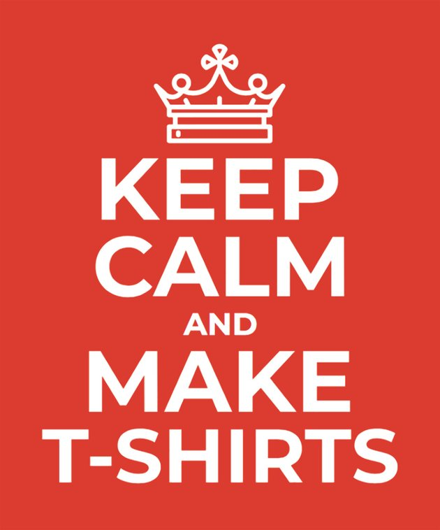 Keep Calm Tshirt Template for Typography T-Shirts