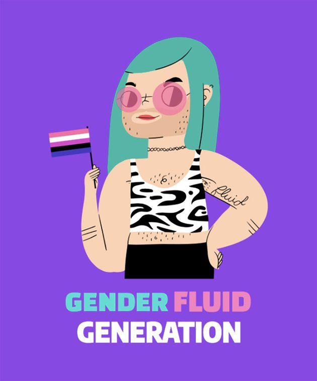 T-Shirt Design Maker for Gender Fluidity Pride