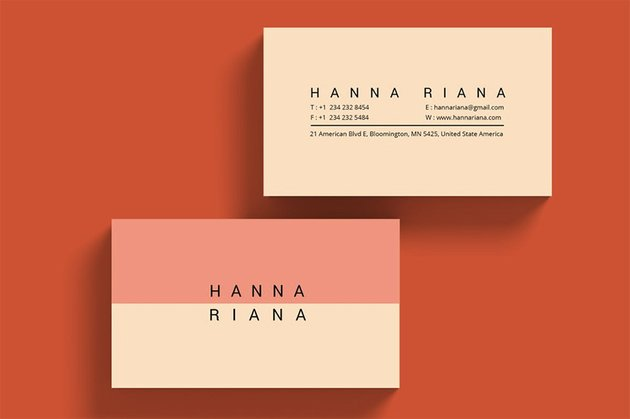 Minimalist Personal branding Business Card
