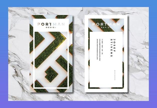 Portman Personal Business Card Template