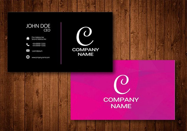 Creative Business Card With Glow Colorful Background
