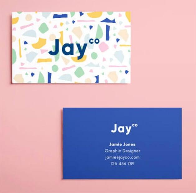 Terrazzo Business Card Template