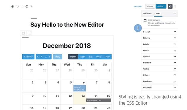 Calendarize it for WordPress