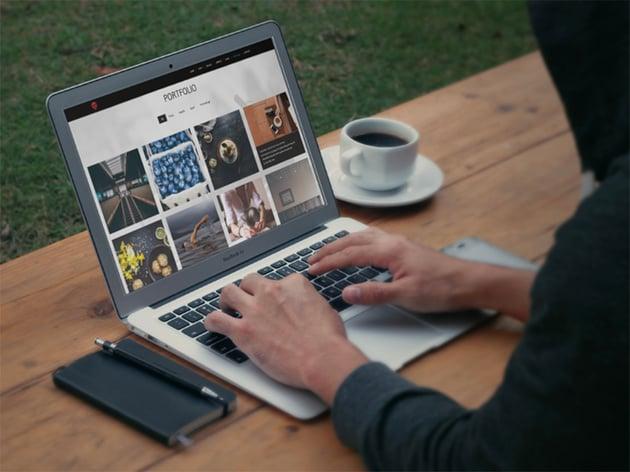 A WordPress portfolio website