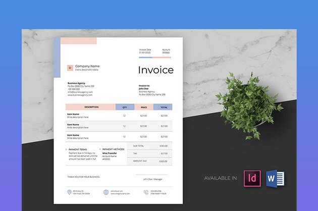 Clean and Minimal Business Invoice