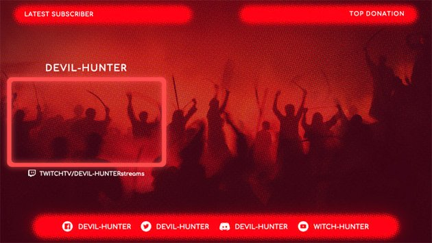 Cool Twitch Overlay Template for Gaming Live Streams