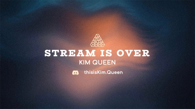 Twitch Overlay Maker with a Stream is Over Message