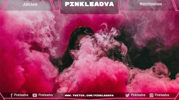 Twitch Overlay Template with Pink Hues