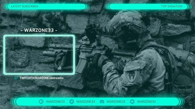 Twitch Overlay Template with a Live Window Panel