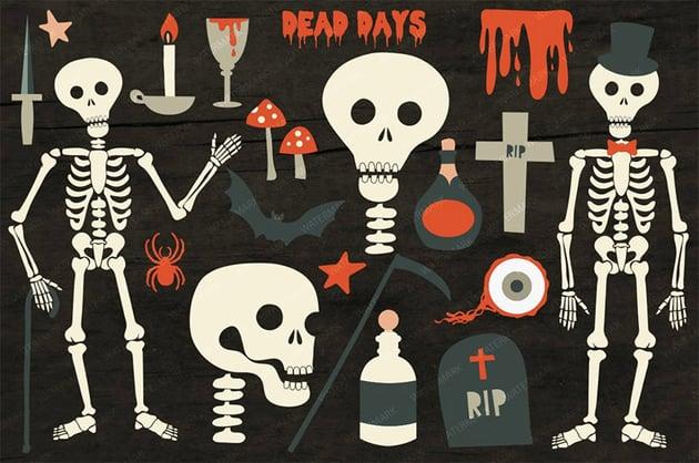 Dead Days Halloween Horror Illustrations