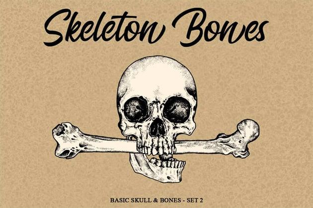 Skeleton Handrawn Set 2