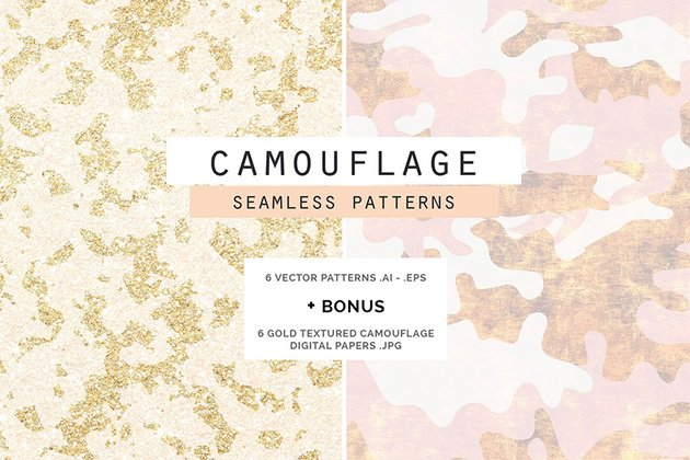 Camouflage Glam Patterns  Scrapbook Papers