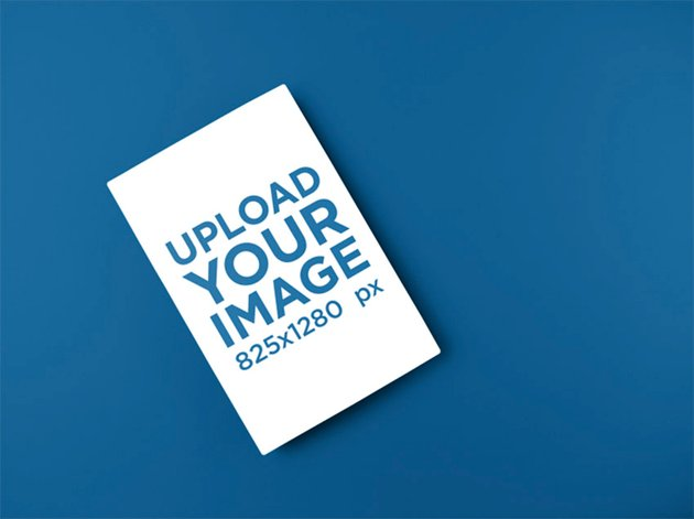 Mockup of a Flyer Lying on a Solid Surface