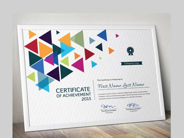 Modern Multicoloured Certificate