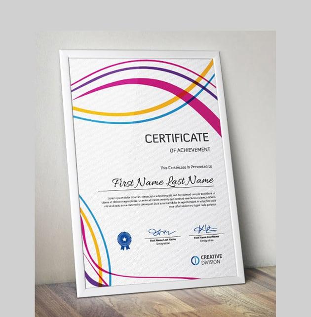 Multicoloured Lines Certificate