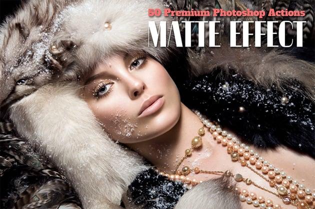50 Premium Matte Photoshop Actions