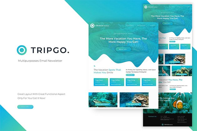 Tripgo  Newsletter Template