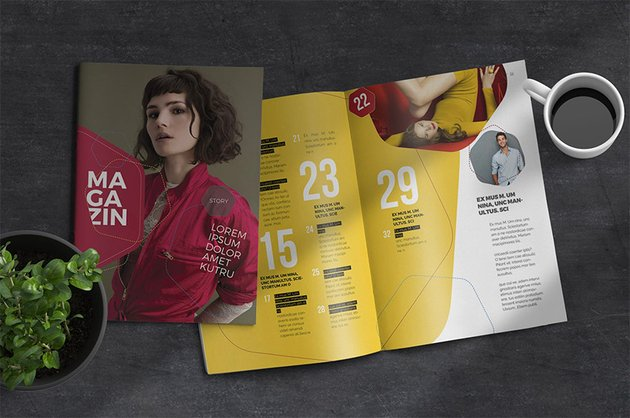 One of the many eye-catching InDesign report templates available at Envato Elements