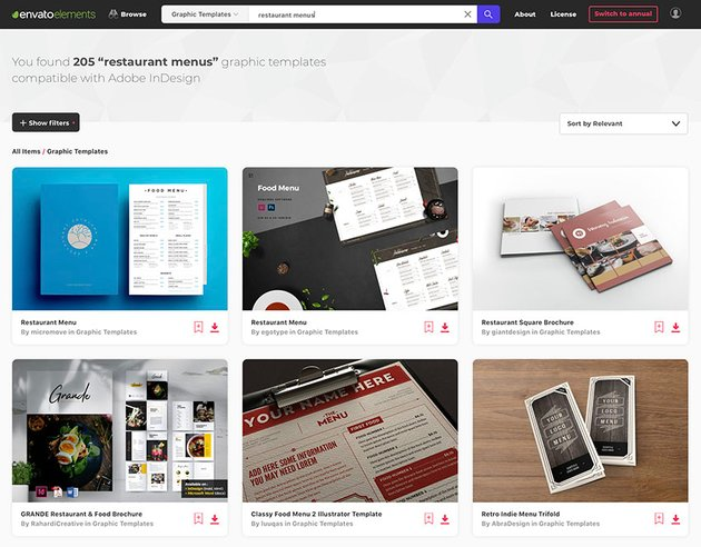 Unlimited InDesign Templates From Envato Elements