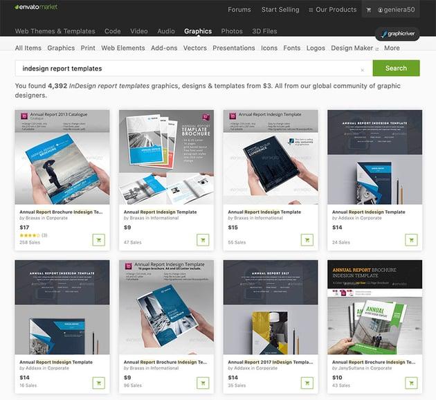 More Premium InDesign Report Templates From GraphicRiver
