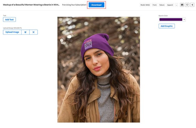Download Your Beanie Mockup