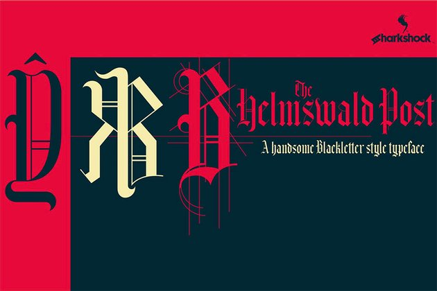 Helmswald Post Heavy Metal Font Download