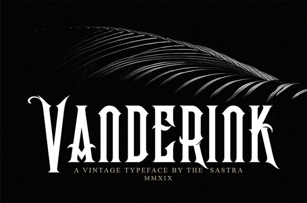 Vanderink Heavy metal font