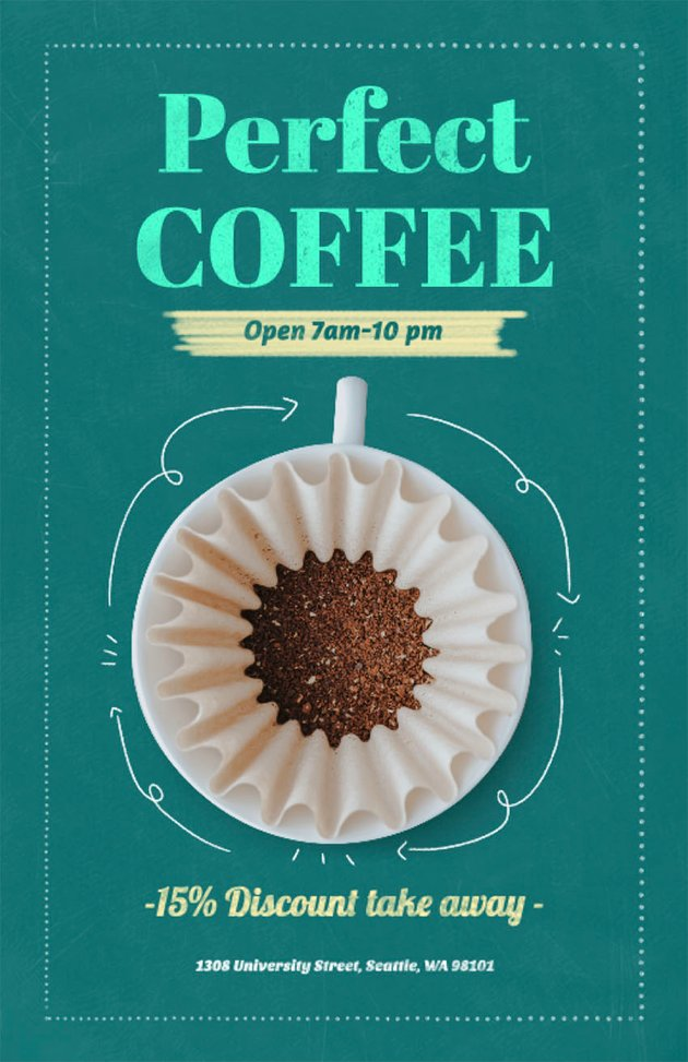 Coffee Cup Online Flyer Maker