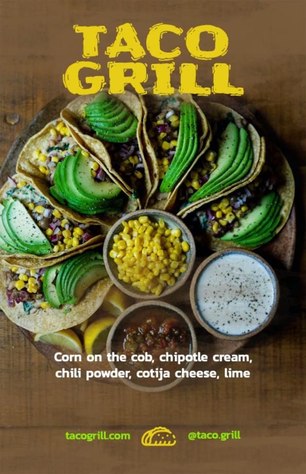 Online Flyer Design Template for a Taco Restaurant